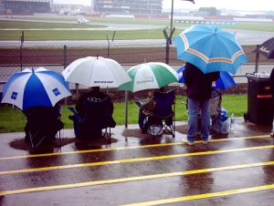 Silverstone: the sun never shines in Northants...