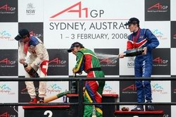 Robbie Kerr on the podium in Australia