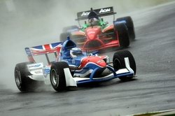 Robbie Kerr races in the rain