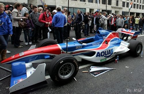 Team GBR car on display to the crowds