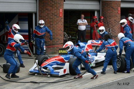An A1GP pitstop