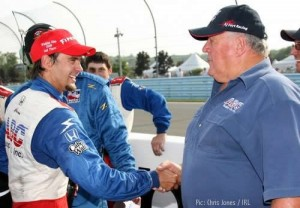 Darren Manning and AJ Foyt after the Watkins Glen race