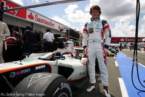Mike Conway with his Union Flag overalls at Silverstone