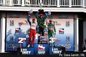 Hunter-Reay, Manning and Kanaan on the podium
