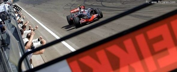 Heikki Kovalainen takes his debut victory
