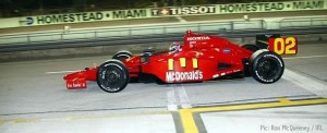 Justin Wilson practices at Homestead-Miami, where the 2009 season will end