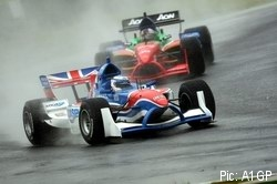 Robbie Kerr in A1GP action for Team GBR