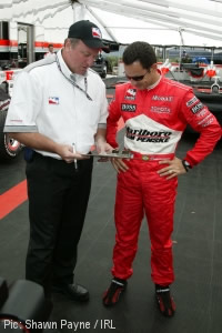 Brian Barnhart and Helio Castroneves in happier times
