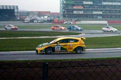 Jason Plato leads the field at Silverstone