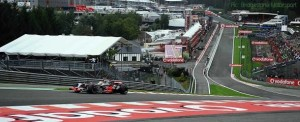 Lewis Hamilton exits Eau Rouge in qualifying