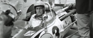 Paul Newman at the Indianapolis Motor Speedway, shooting the film 'Winning'