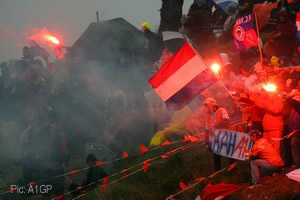 Dutch fans defied the weather to turn out in force