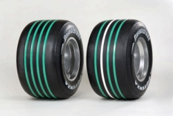Bridgestone's green-striped tyres