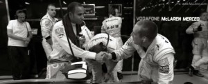 Lewis Hamilton in the McLaren garage at Singapore