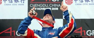 Danny Watts celebrates one of his podiums