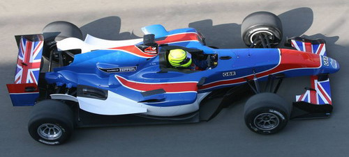 The new Team GBR livery, Danny Watts at the wheel
