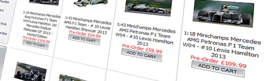 Lewis Hamilton cars at OnPole