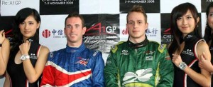 Polesitters Danny Watts and Adam Carroll - there are fancy watches to be won in A1GP this year, not just races.