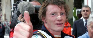 Mike Conway celebrates his GP2 win in Monte Carlo