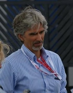 Damon Hill at Silverstone in 2008