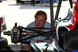 Team owner Dale Coyne in the garage