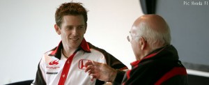 Anthony Davidson and Murray Walker at a Honda open day in 2007. Both will be involved in the BBC's F1 coverage next season.