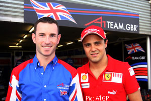 Felipe Massa came to cheer on Team Brazil - whose accident wrecked Danny Watts' shot at pole
