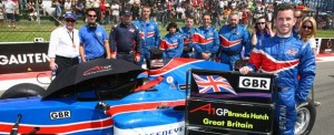 Team GBR promote the Brands Hatch race