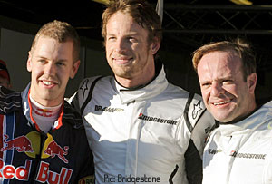 Vettel, Button and Barrichello were the fastest qualifiers