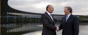 Ron Dennis and new McLaren chairman Richard Lapthorne at the Technology Centre