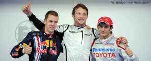 Button, Trulli and Vettel set the three fastest times in qualifying