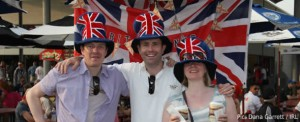 British fans at Indy - pretty much the only photo available from the IRL at the time of filing this story...