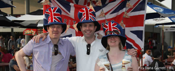 British fans at Indy