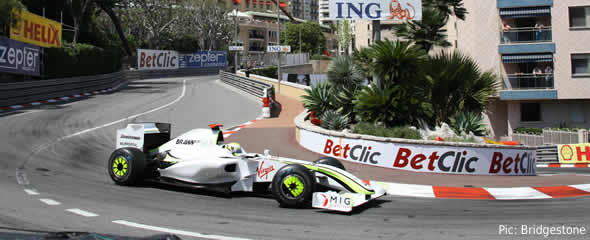 Jenson Button on his way to victory in Monaco
