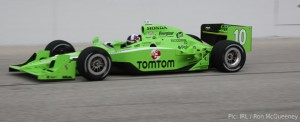 Dario Franchitti, rebranded to promote an in-car GPS system