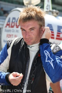 Jay Howard during qualifying at Indy