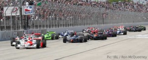 The IndyCar field at the Milwaukee Mile