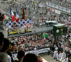The 2009 Le Mans LMP1/overall podium