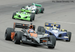 Danica Patrick leads in Iowa from Mike Conway, Dario Franchitti and Tony Kanaan