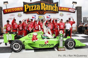 Dario Franchitti said his crew paid a major part in his victory
