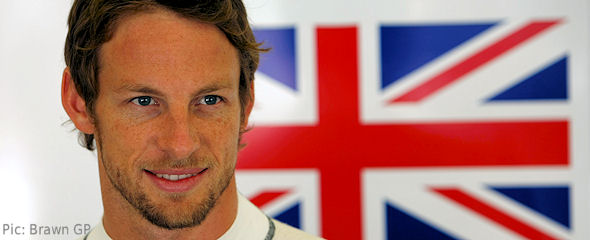 Jenson Button hoped to maintain his winning ways for the British fans