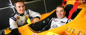 The two Mansells, with Nigel in Greg's WSR car