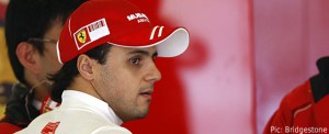 Felipe Massa suffered a head injury from flying debris