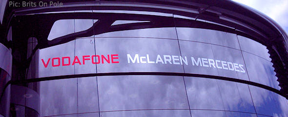 The McLaren F1 Brand Centre at Silverstone