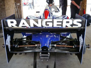 Twin rear underfins, but no dodgy F1 double diffuser