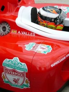 Adrian Valles is in his second year driving for Liverpool