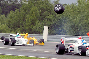 A wheel flies off in a previous race: does F2 have an engineering problem?