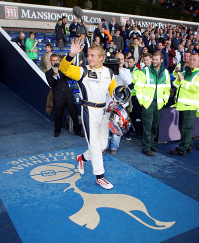Craig Dolby leaves the tunnel at White Hart Lane