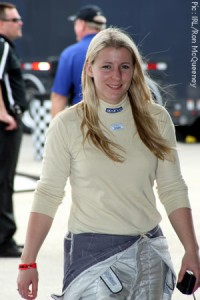 Pippa Mann during the 2009 pre-season Homestead test