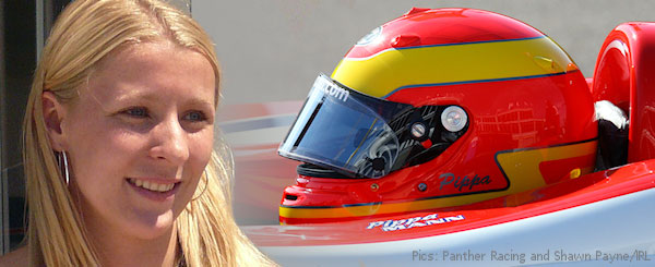 Pippa Mann at rest and at work